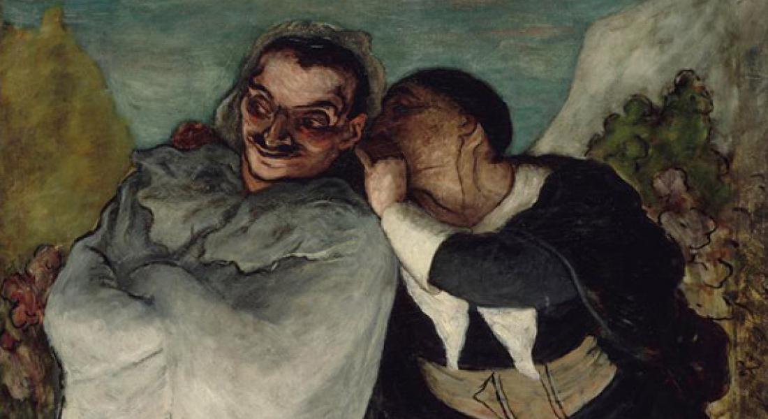 Crispin et Scapin, Honoré Daumier