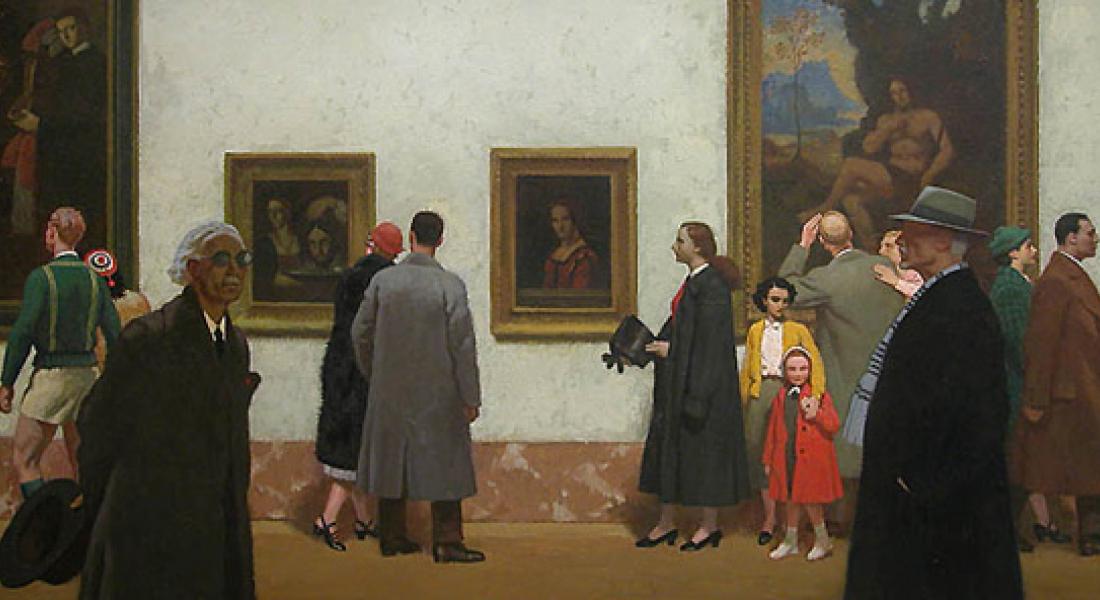 Dans la Grande Galerie, Georges LEROUX (1877 - 1957)