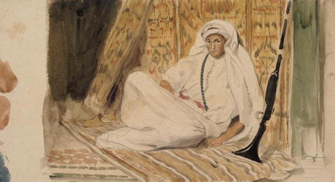 Marocain en Blanc, Eugène Delacroix