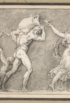 Frise de faunes et de bacchantes d'après un bas-relief antique