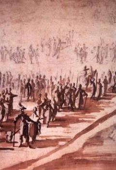 Louis XIII et Richelieu présidant à l'embarquement des troupes pour l'île de Ré