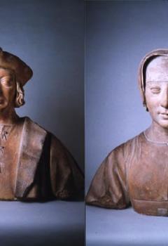 Portrait présumé du chancelier Antoine Duprat (1463-1535). - Portrait de Louise de Savoie, mère de François Ier (1476-1531).