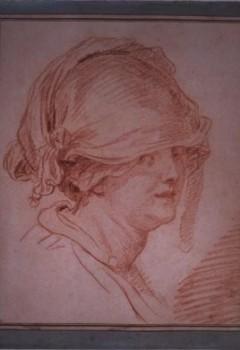 Portrait de femme avec coiffe