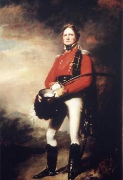 Le Major James Lee Harvey en uniforme de Gordon Highlander