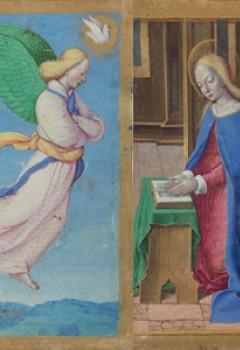 Deux feuillets d'un livre d'Heures