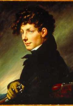 Portrait de jeune homme en chasseur