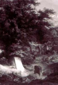 Cimetière et ruines envahis par les arbres