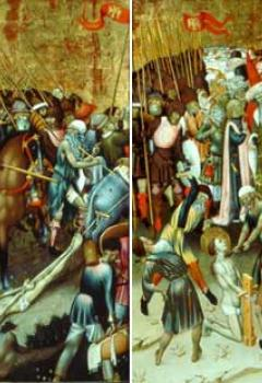 Le Jugement de saint Georges par Dacien - Saint Georges traîné au supplice - La Flagellation de saint Georges - La Décapitation de saint Georges