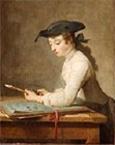Jean-Siméon CHARDIN - Le jeune dessinateur