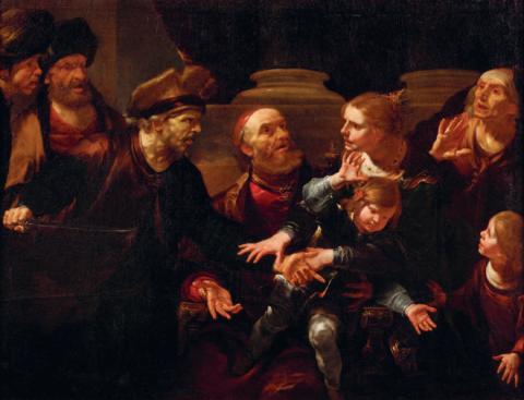 Nouvelle acquisition par la Société des Amis du Louvre - Gioacchino Assereto Joas sauvé de la persécution d'Athalie