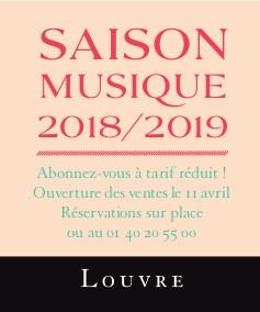 auditorium du Louvre Saison Musique 2018/2019