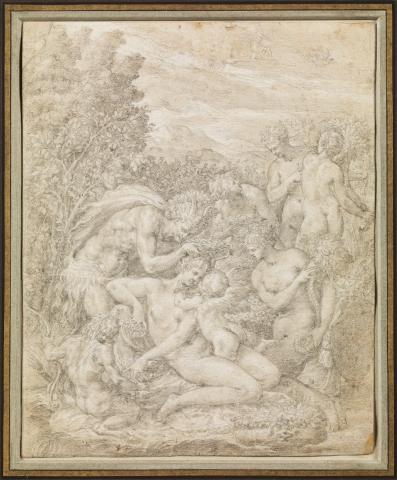 Vénus couronnée par un Satyre
