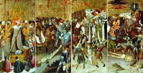 Le Jugement de saint Georges par Dacien - Saint Georges traîné au supplice - La Flagellation de saint Georges - La Décapitation de saint Georges