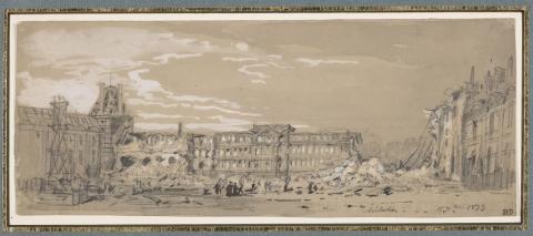 Ruines des Tuileries après la Commune