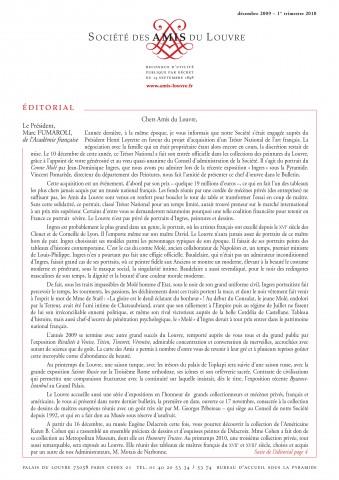 Bulletin trimestriel des Amis du Louvre du 1er trimestre 2010