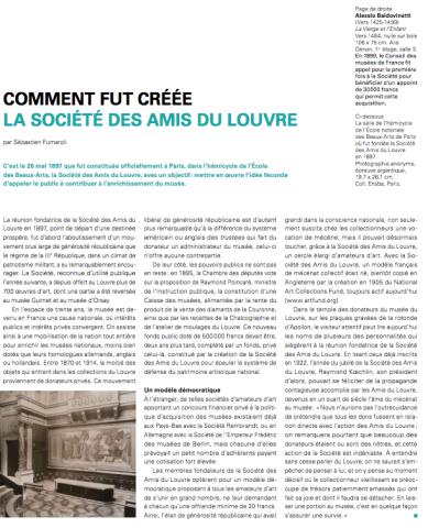 Naissance et gloire des Amis du Louvre