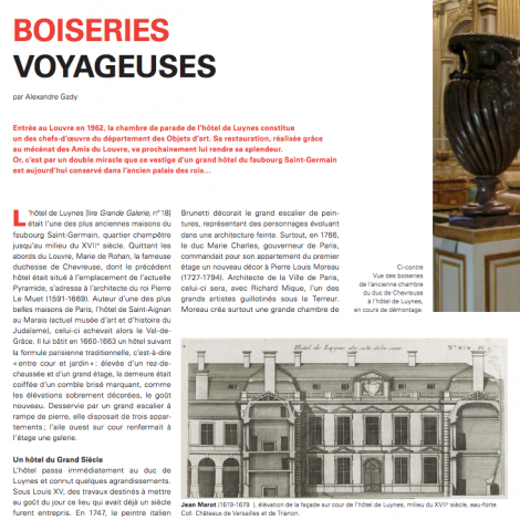 Boiseries voyageuses