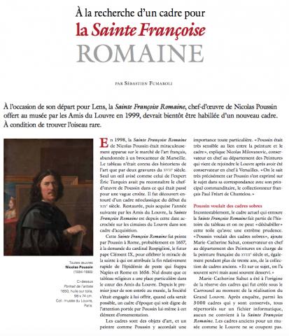 À la recherche d'un cadre pour la Sainte Françoise Romaine