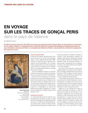 En voyage sur les traçes de Gonçal Peris dans le pays de Valence