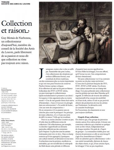 « Collection et raison » par Guy Motais de Narbonne