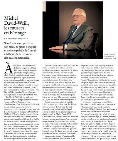 Michel David-Weill :  la figure du Commandeur