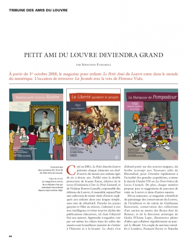 Petit Ami du Louvre deviendra grand