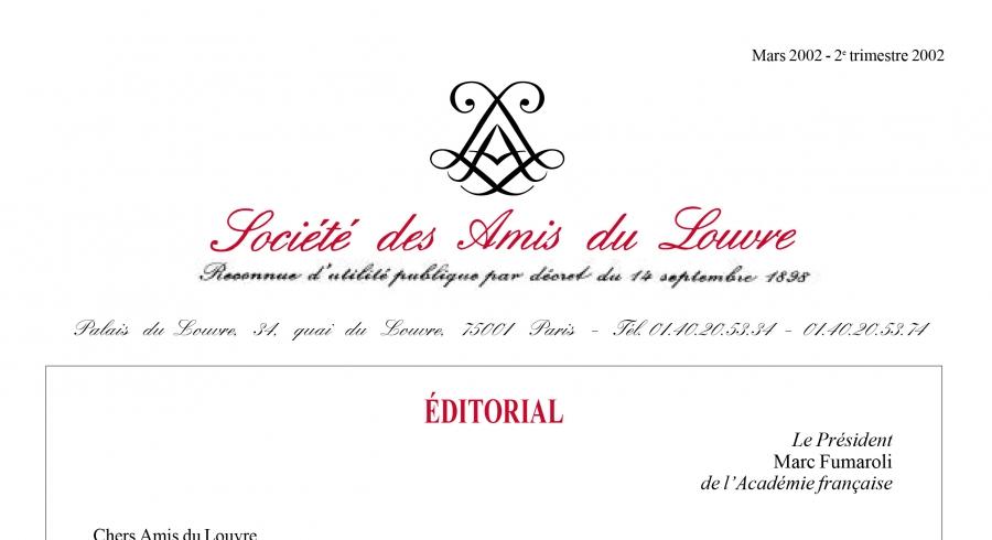 Bulletin trimestriel des Amis du Louvre du 2ème trimestre 2002