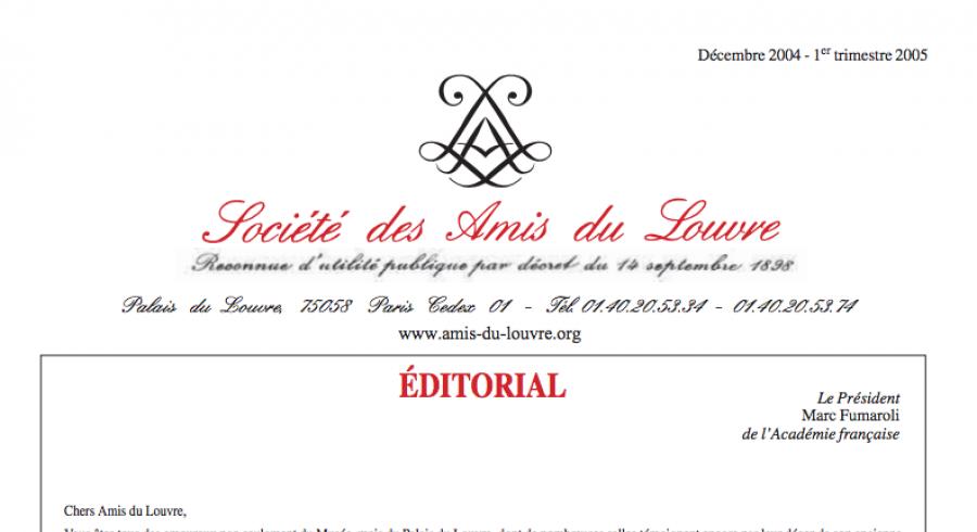 Bulletin trimestriel des Amis du Louvre du 1er trimestre 2005
