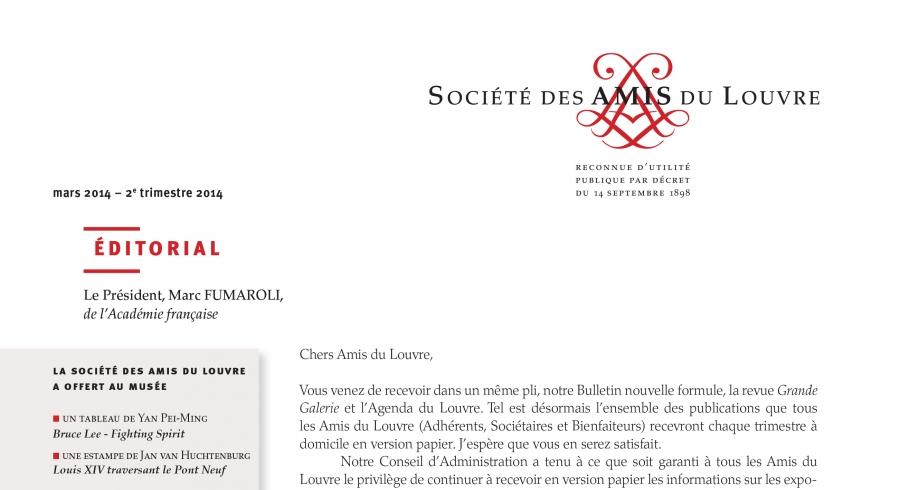Bulletin trimestriel des Amis du Louvre du 2ème trimestre 2014