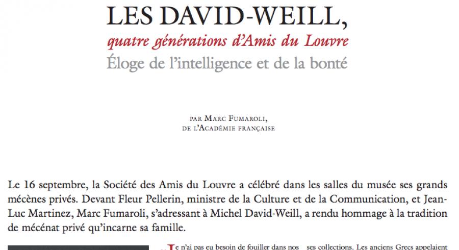Les David-Weill : quatre générations d'Amis du Louvre