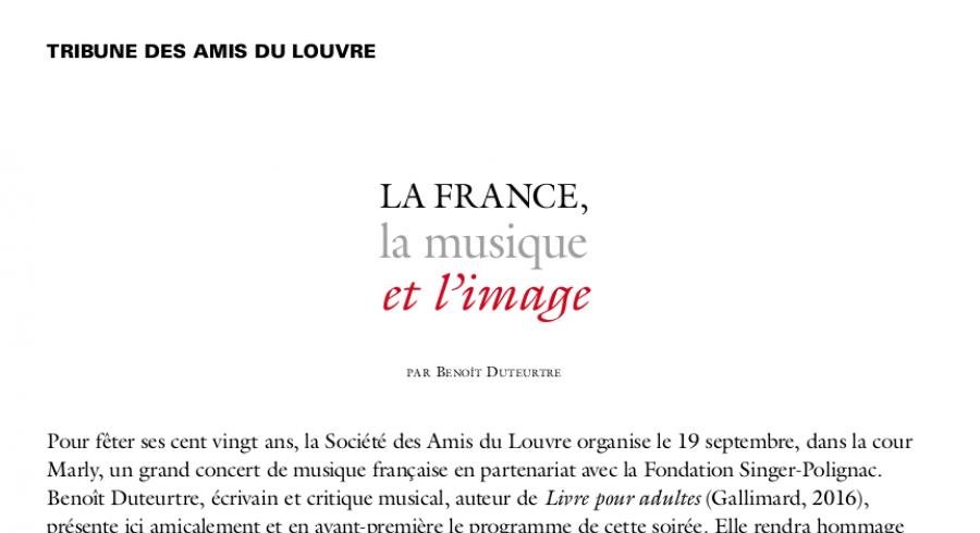 La France, la musique et l'image