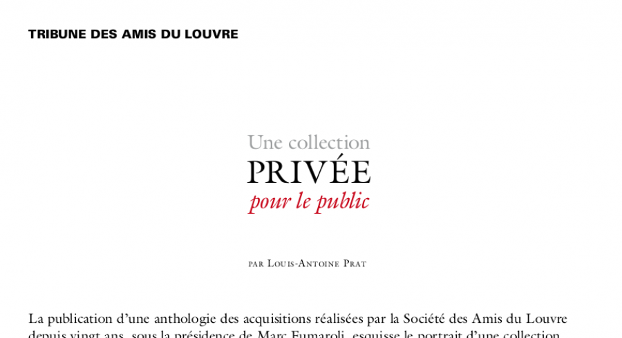 Une collection privée pour le public