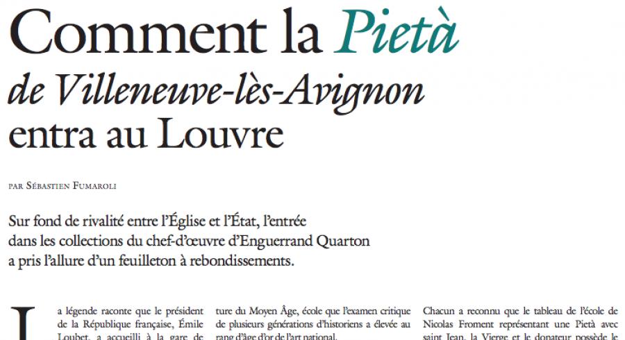 La Pietà : l'histoire de son entrée au Louvre