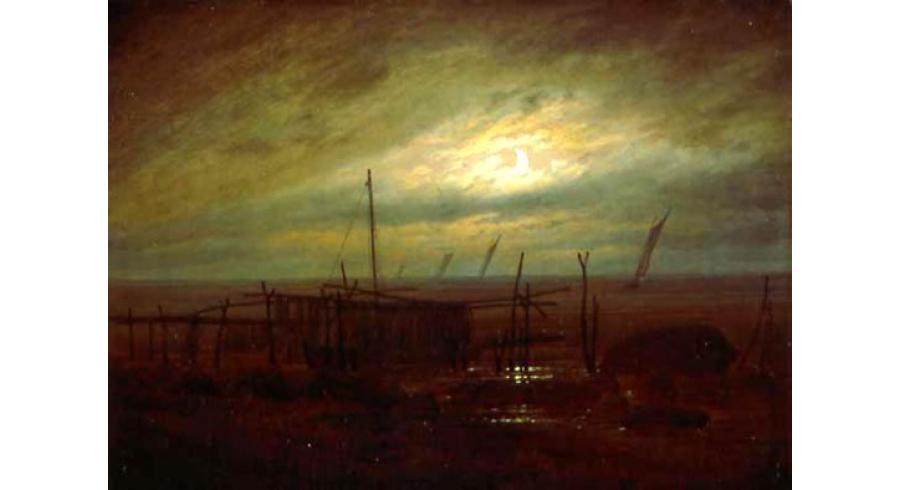 Bord de mer au clair de lune