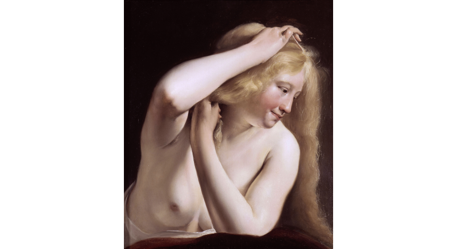 Jeune Femme se peignant
